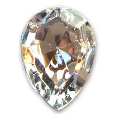 13mm x 18mm CLEAR CRYSTAL Teardrop Shape Acrylic Embellishment Gems